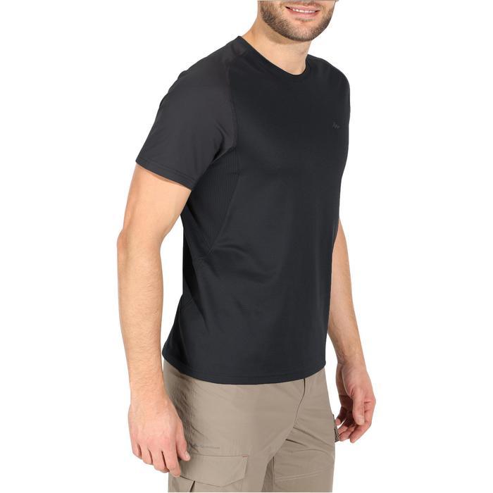Tee Shirt Manches Courtes Randonnée Tech Fresh 100 homme Gris foncé - 1140602