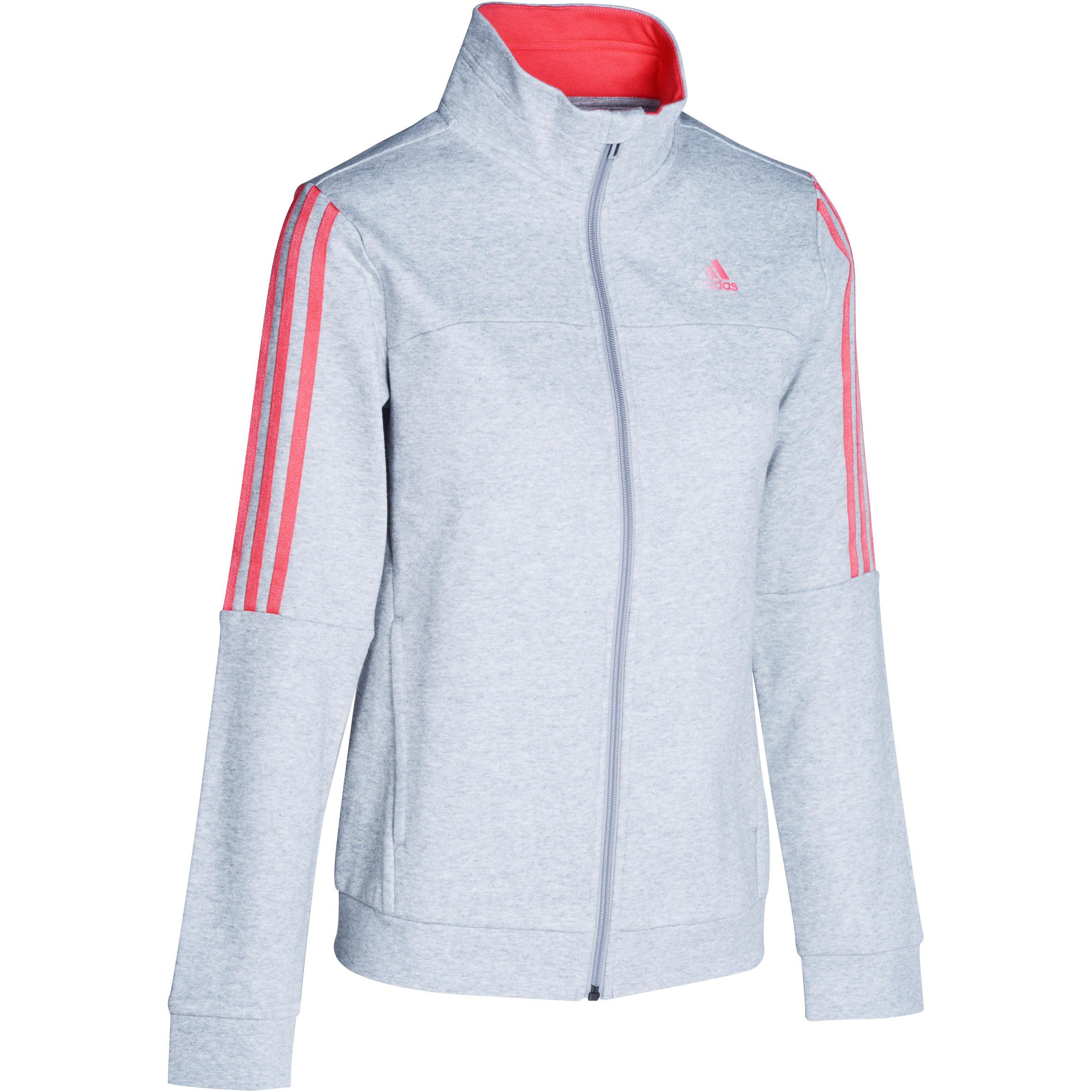 Fitnessvest voor dames grijs-roze