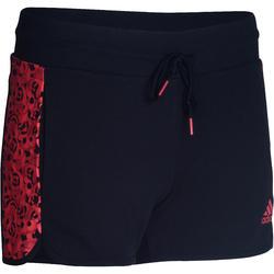 Fitness short voor dames Adidas zwart/koraal