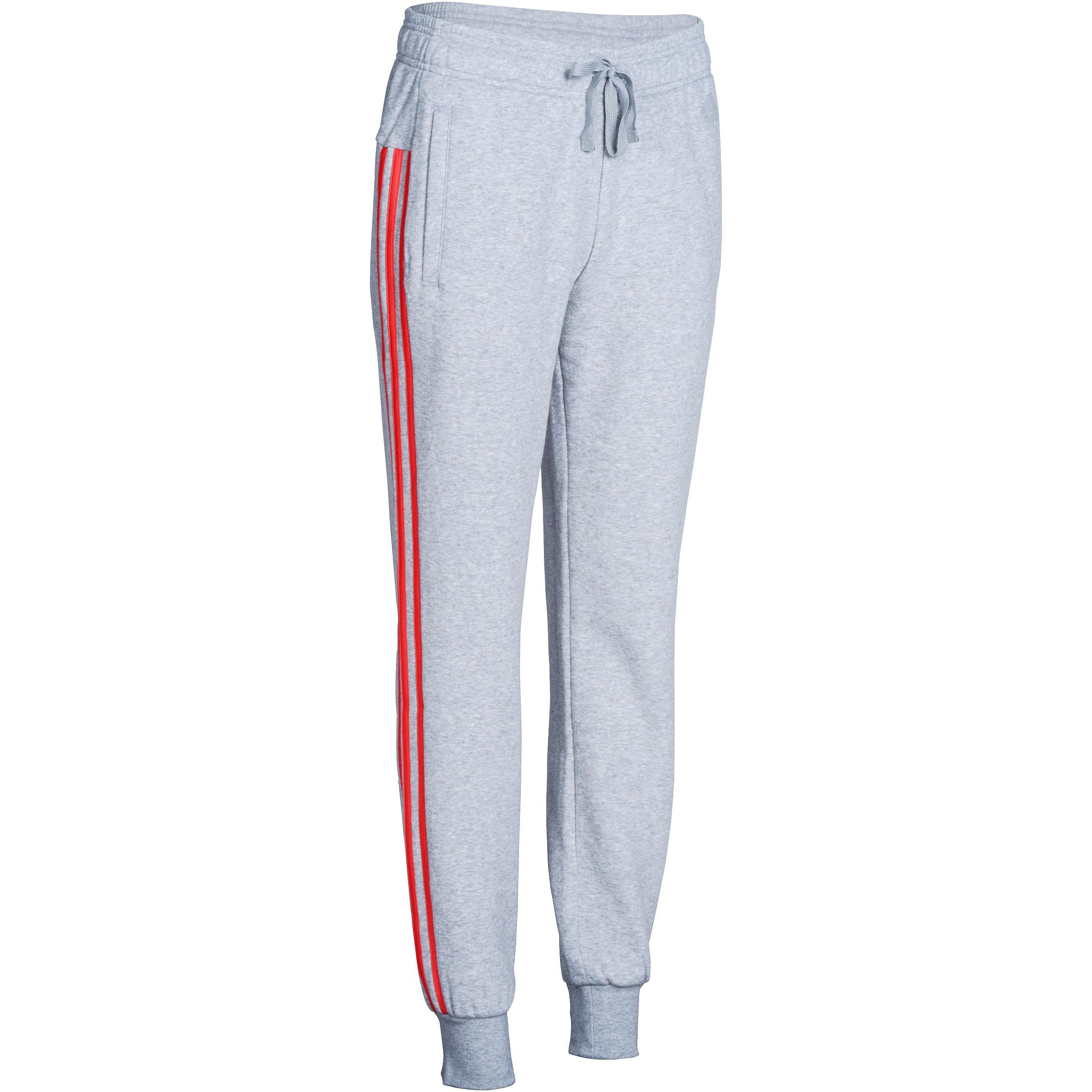 Fitnessbroek voor dames grijs-roze