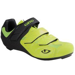 Fietsschoenen racefiets Trebble Giro fluogeel