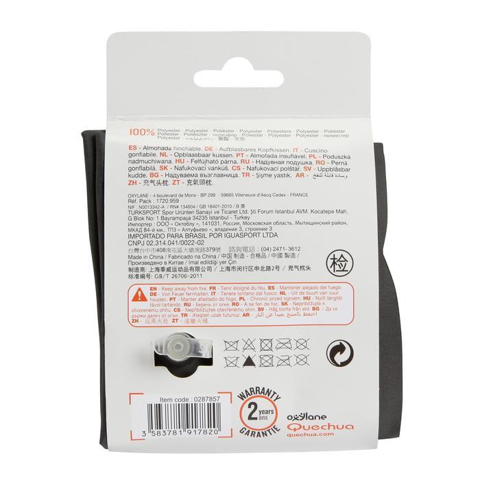 Opblaasbaar hoofdkussen Air Basic zwart