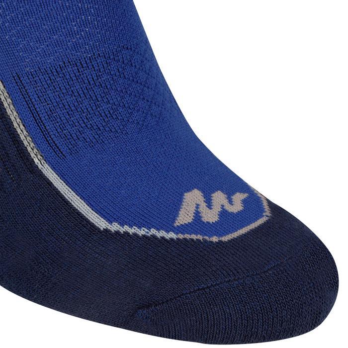 Chaussettes de randonnée Nature tiges mid. 2 paires Arpenaz 100 bleu