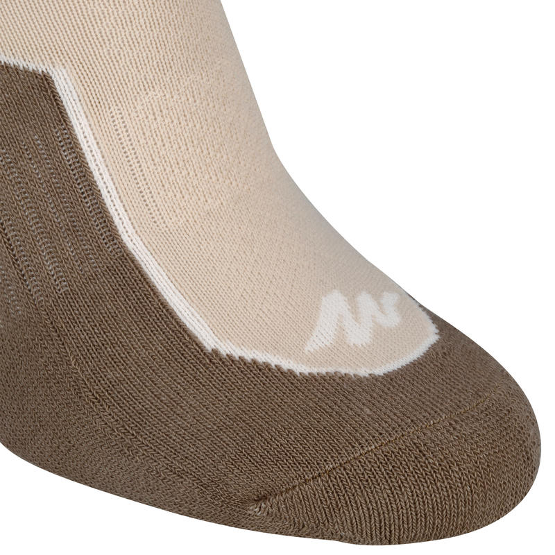 Country walking Mid socks X 2 pairs NH 500 - beige
