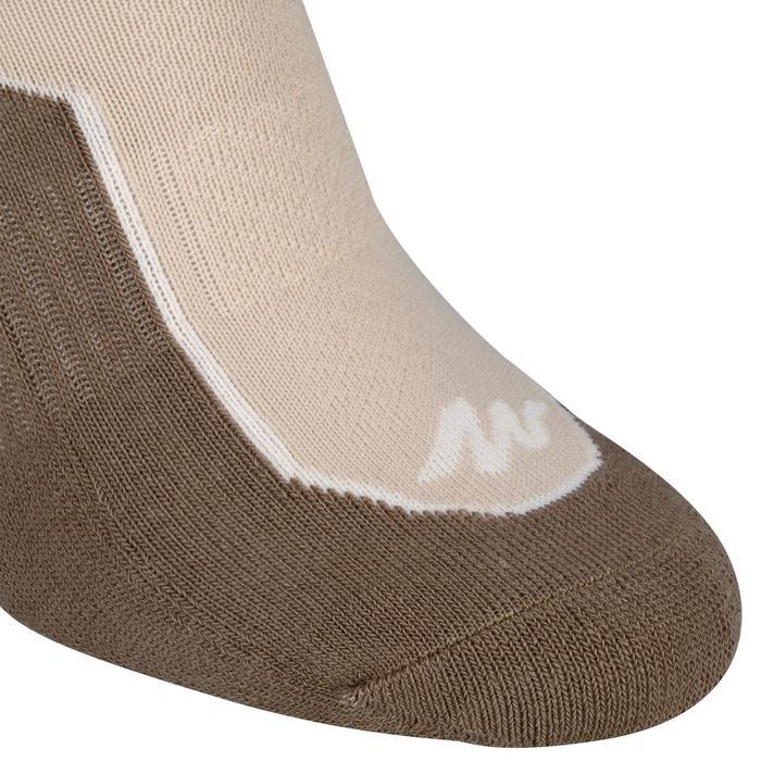 兩雙入郊野健行中筒襪NH 500-米色
