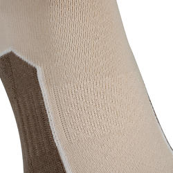 Country walking Mid socks X 2 pairs NH 500 - beige