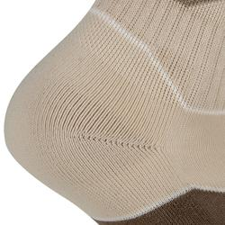 Calcetines de senderismo naturaleza NH500 Media caña beige x 2 pares