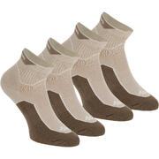 2 pares de calcetines de travesía naturaleza tobillo adulto Arpenaz 100 beige