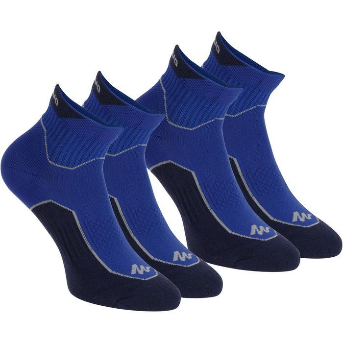 Calcetines de senderismo Naturaleza media caña. 2 pares Arpenaz 100 Azul