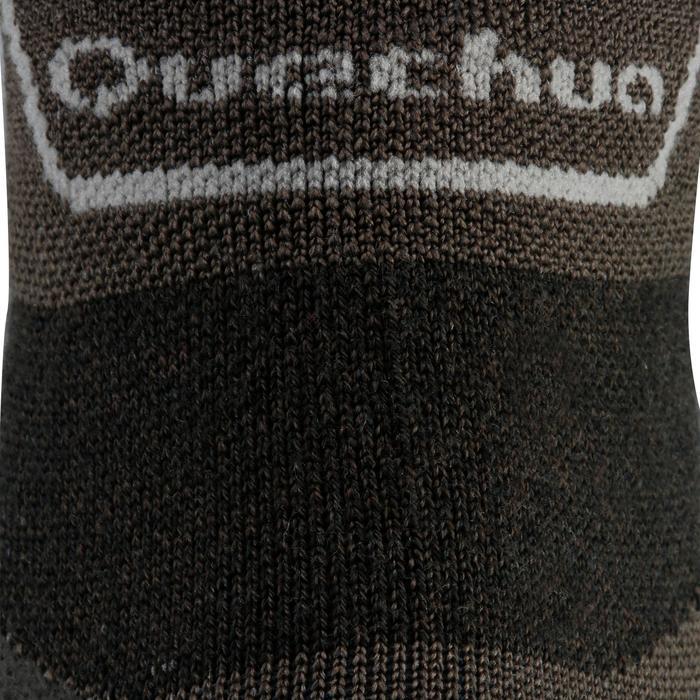 Mid-top mountain walking socks. MH 900 2 Pairs - Black