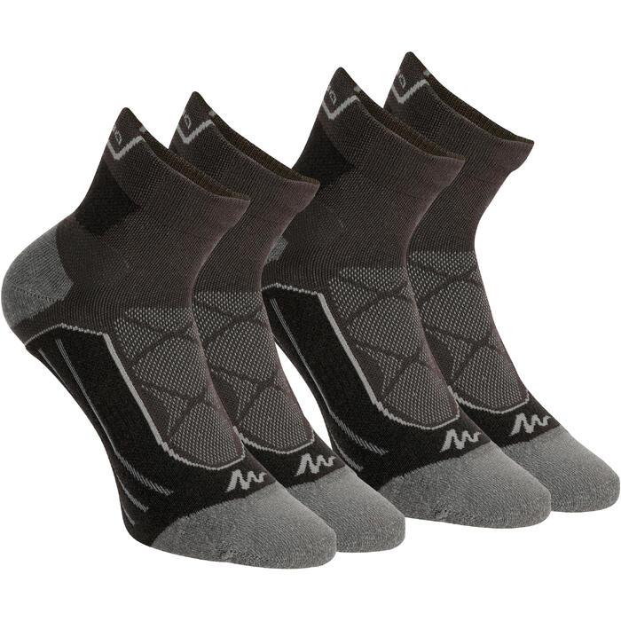 Trekkingsokken halfhoog 2 paar Forclaz 900 zwart