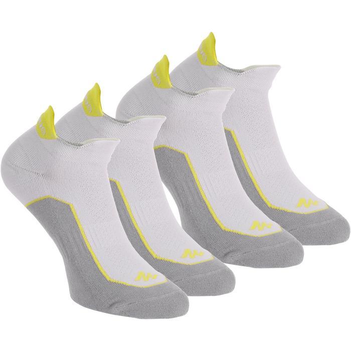 Calcetines cortos de senderismo en la naturaleza. 2 pares Arpenaz 100 gris