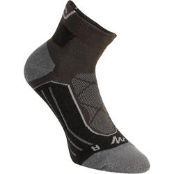 Mid-Length Mountain Hiking Socks. MH 900 2 Pairs - Black