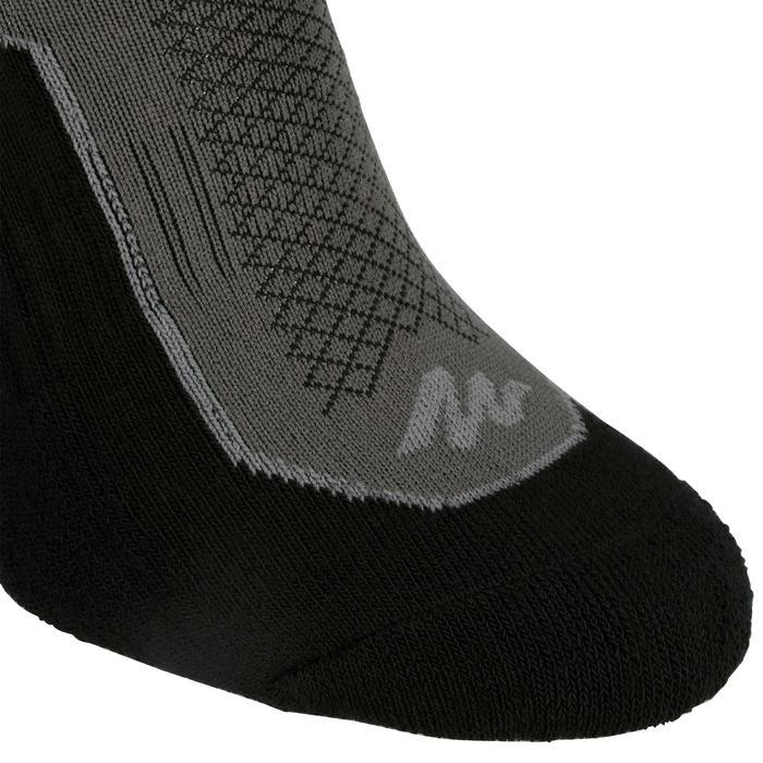 Low Cut Nature Hiking Socks. Arpenaz 100 2 Pairs - Grey