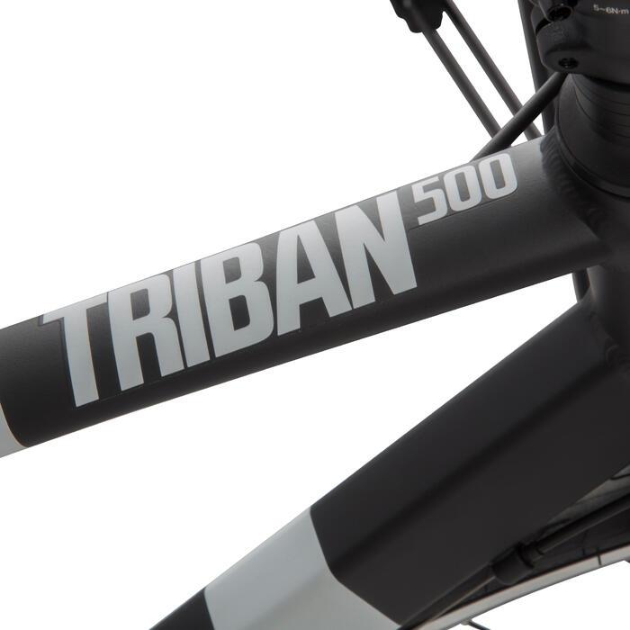 Racefiets Triban 500 zwart wit