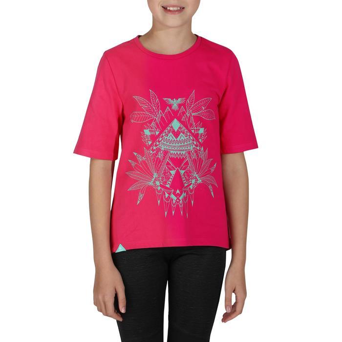 Camiseta de travesía niña Hike 500 Rosa