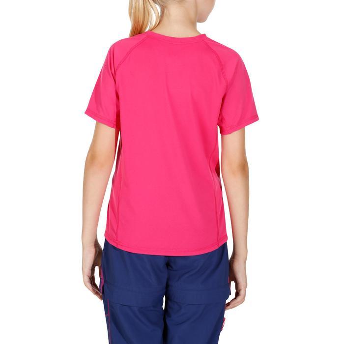 T-Shirt de randonnée fille Hike 100 rose