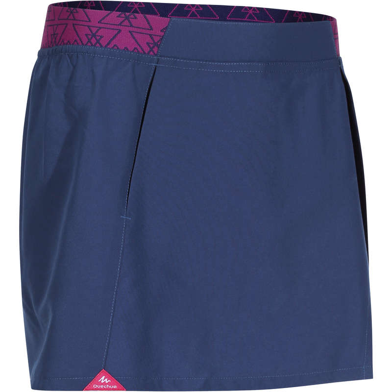 PANTS SHORTS, T SHIRT GIRL 7-15 Y Hiking - MH100 TW Skort - Blue QUECHUA - Hiking Clothes