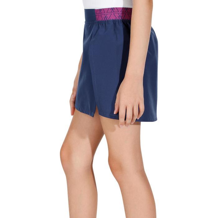 Falda-pantalón de senderismo niñas Hike 100 azul marino