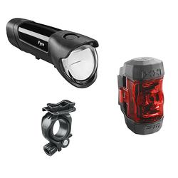 Fahrrad-Beleuchtungsset Fyre + Ixxi 30 Lux