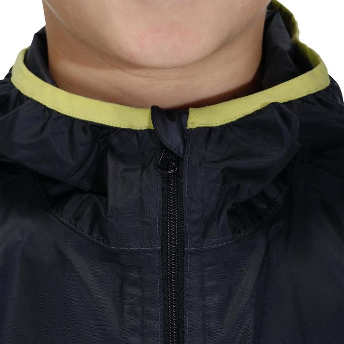 Veste imperméable de randonnée enfant Raincut noir