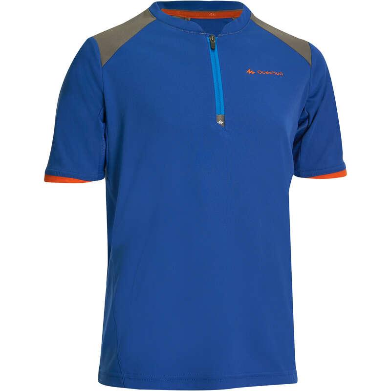 PANT SHORTS T-SHIRT BAMBINO 7-15 Sport di Montagna - T-shirt bambino MH550 azzurra QUECHUA - Trekking bambino