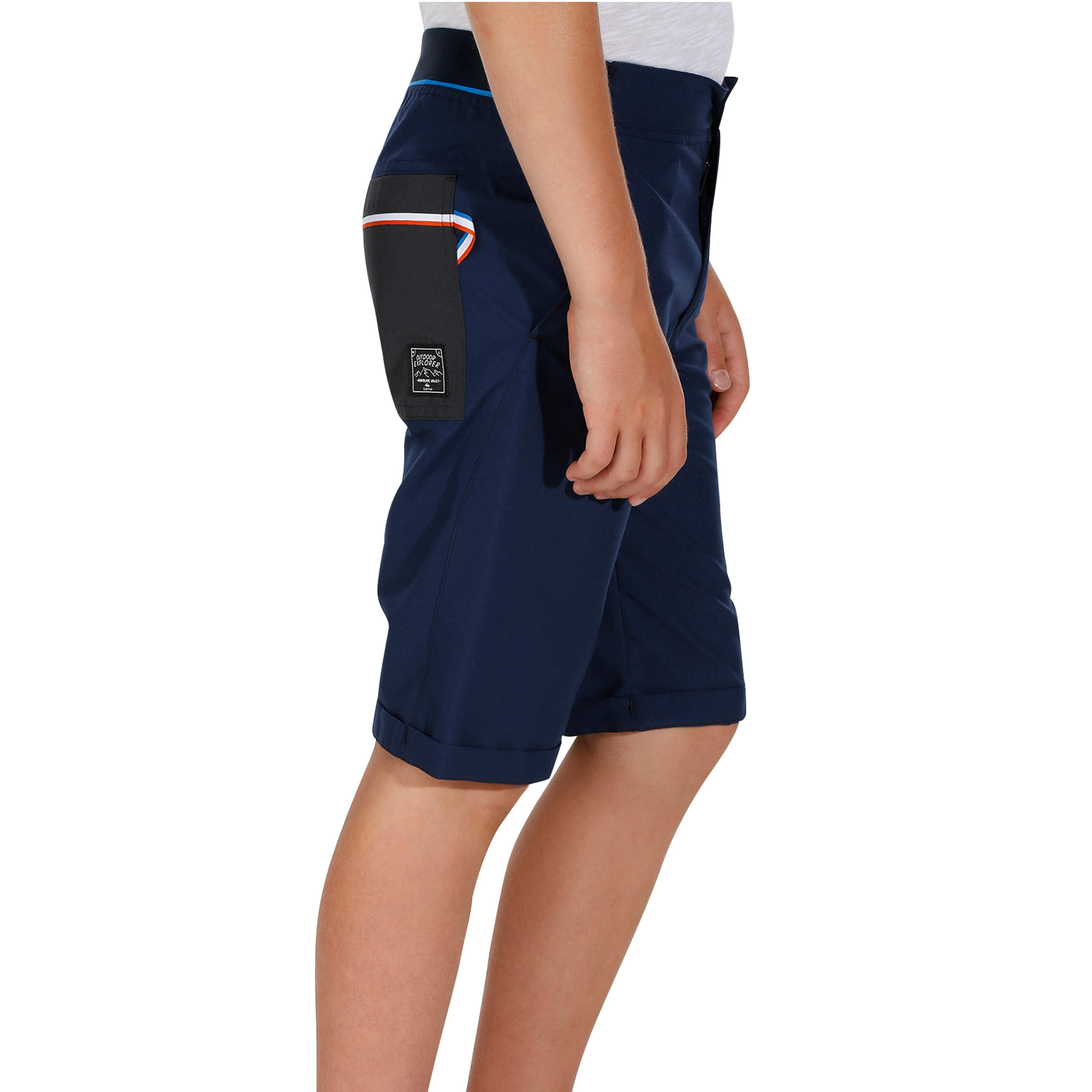 Kid's Hiking Shorts Hike 100 - Navy Blue