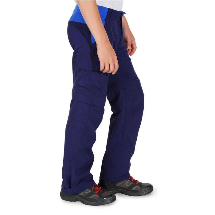 Pantalón de senderismo transformable júnior MH550 Azul marino