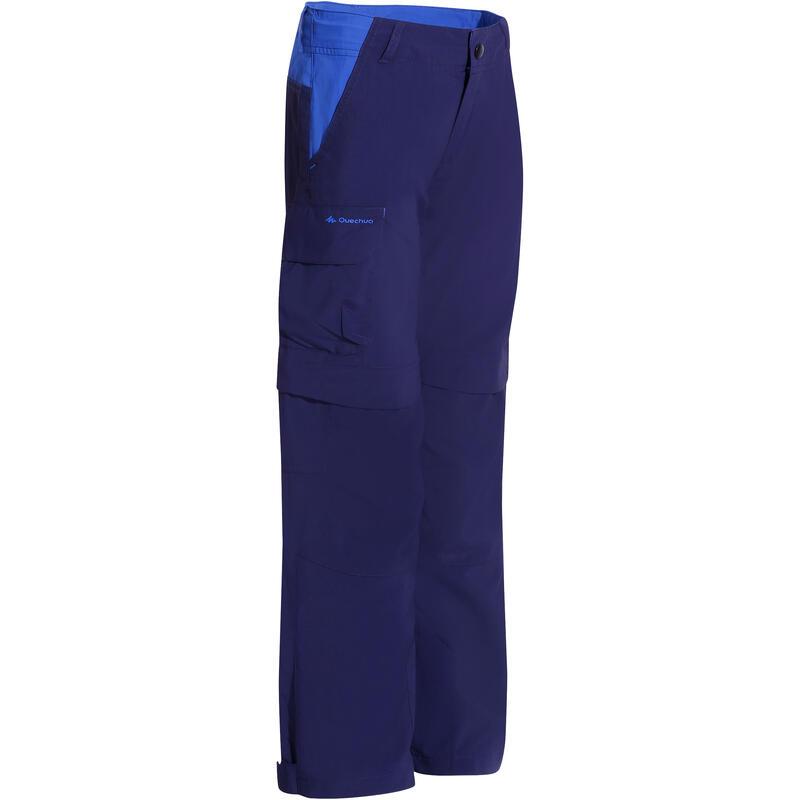 Pantalon de randonnée modulable enfant Hike 900 bleu marine
