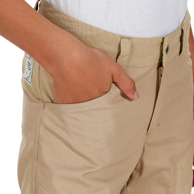 Hike 500 Children's Hiking Trousers - Beige