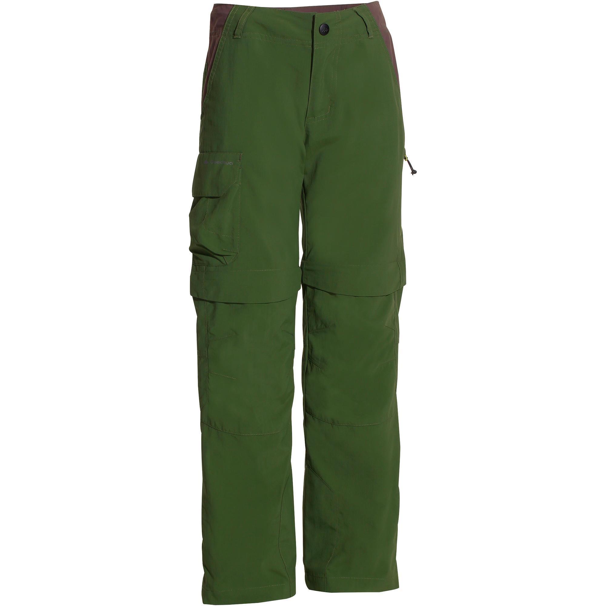 Jungen,Kinder,Kinder Zip-off-Wanderhose Hike 900 Kinder Jungen grün | 03608439512308