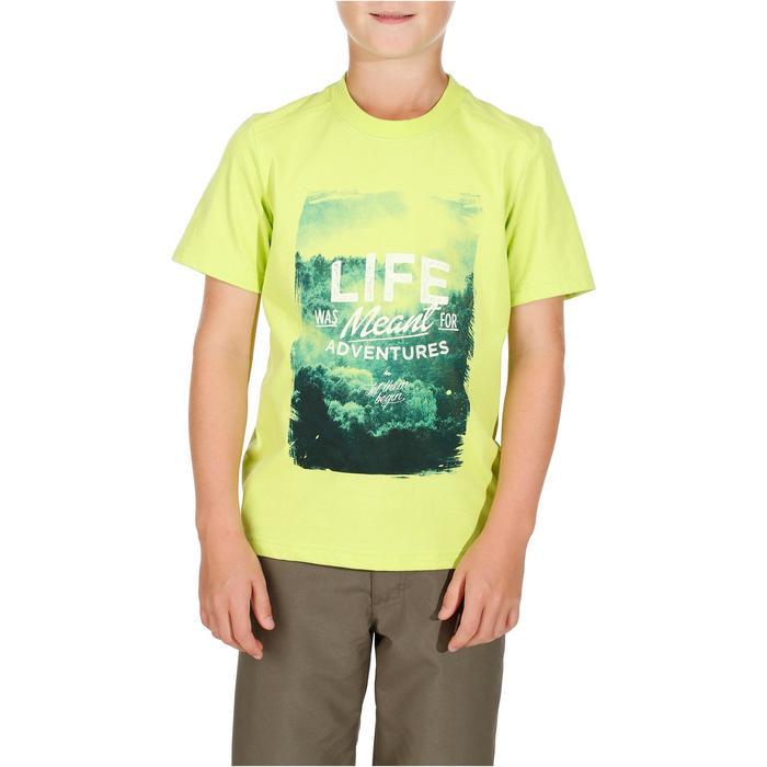 Wandelshirt voor kinderen Hike 500 groen