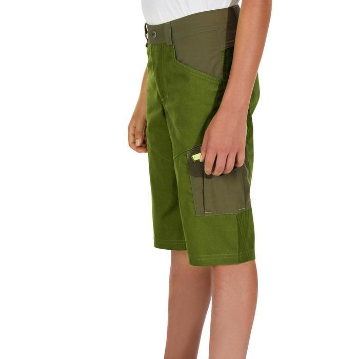 Short de senderismo niños Hike 500 verde oscuro