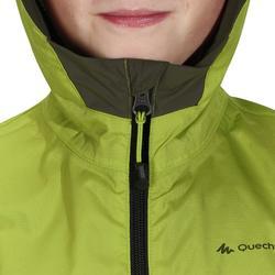 兒童款防水健行外套Hike 500-綠色