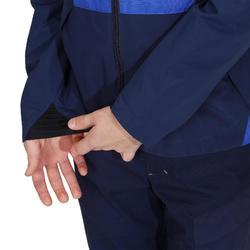 Veste imperméable de randonnée enfant MH 500 bleu navy