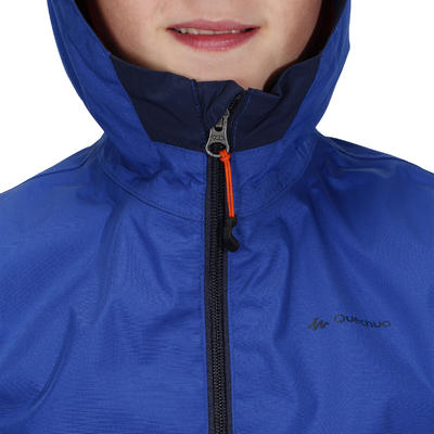 MH500 Children's Waterproof Hiking Jacket - Blue