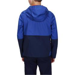 Veste imperméable de randonnée enfant MH 500 bleu marine