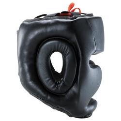 Volledige hoofdbeschermer 500 voor volwassenen bokstraining zwart