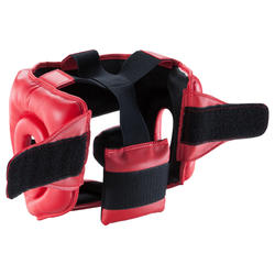 Kids Combat Sports Full Face Head Guard - Red