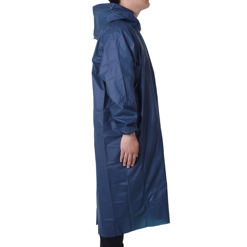 PONCHO POCKET WATERPROOF FISHING PONCHO - DARK BLUE