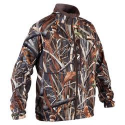 Jagdfleece warm 500 Duck Camouflage Schilf