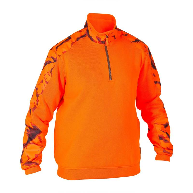 Pull chasse renfort orange fluo 500