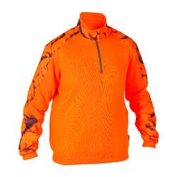 Camisola de caça com reforços 500 laranja Néon