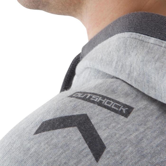 Mouwloze hoodie met rits bokssport grijs