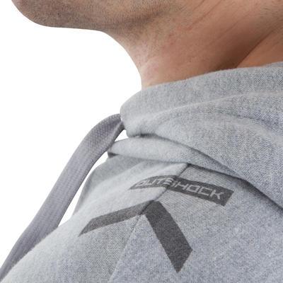 Camiseta manga sisa con capucha hombre Boxeo Outshock gris
