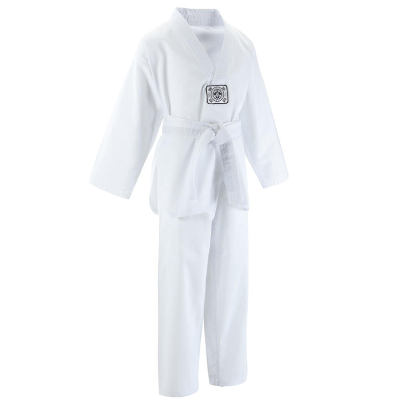 100 Kids' Taekwondo Dobok Uniform - White