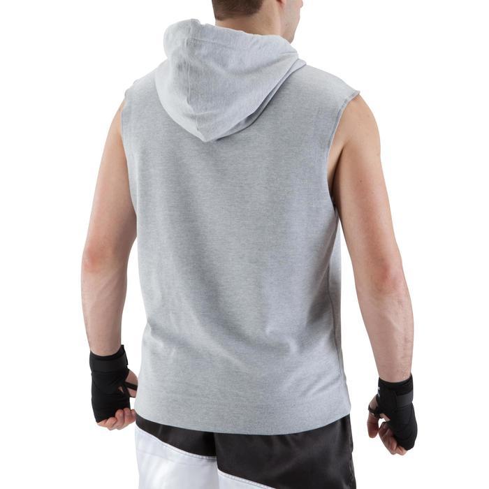 Kapuzenpullover ärmellos Kampfsport Herren grau