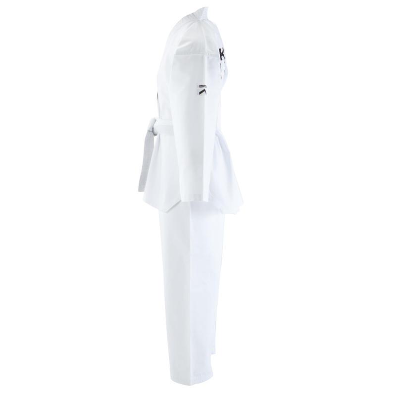 100 Kids' Taekwondo Dobok Uniform - White