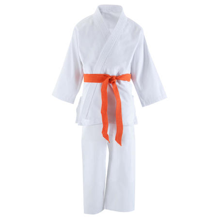 500 Kids' Judo Aikido Uniform - White