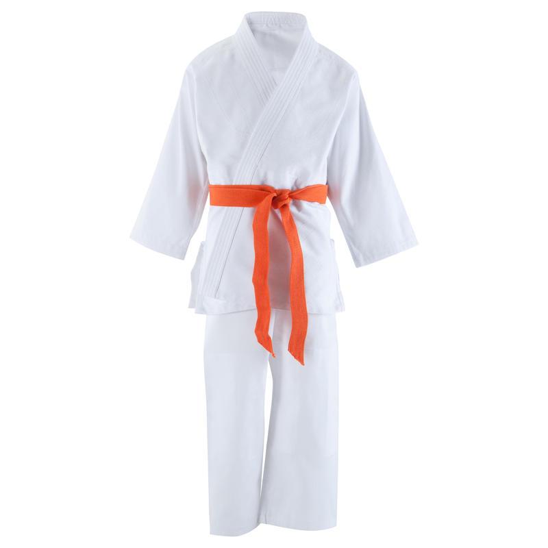 ชุดยูโด/ไอคิโดสำหรับเด็กรุ่น 500 สีขาว